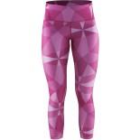 Dámské kalhoty Craft Pure Print 7/8 růžová