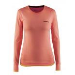 Dámské triko Craft Active Comfort dl.rukáv růžová s oranžovou melír