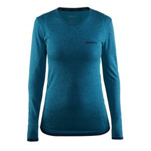 Dámské triko Craft Active Comfort dl.rukáv modrá melír