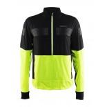 Pánská bunda Craft Brilliant 2.0 Light černá se žlutou reflexní