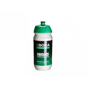Cyklistická láhev TacX Pro Teams BORA hansgrohe 600ml bílá se zelenou