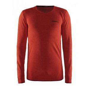 Pánské triko Craft Active Comfort dl.rukáv oranžová melír