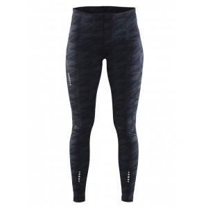 Dámské kalhoty Craft Mind Tights tmavě šedá vzor