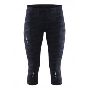 Dámské kalhoty Craft Mind Capri tmavě šedá vzor