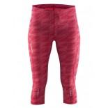 Dámské kalhoty Craft Mind Capri růžová vzor