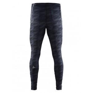 Pánské kalhoty Craft Mind Tights černá vzor