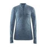 Dámské triko Craft Active comfort zip dl.rukáv modrá melír