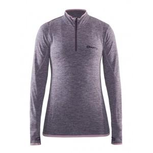 Dámské triko Craft Active comfort zip dl.rukáv fialová melír