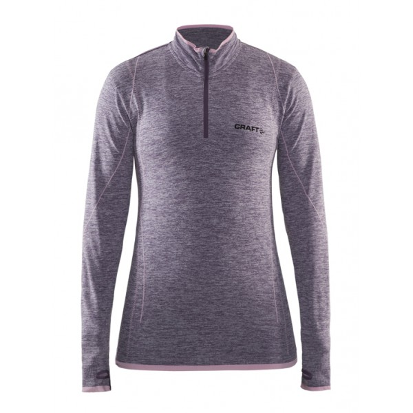 Dámské triko Craft Active comfort zip dl.rukáv fialová melír 6b249b03b7