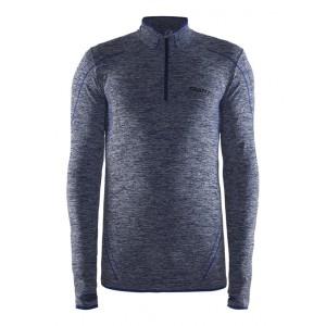 Pánské triko Craft Be Active comfort zip modrá melír