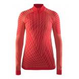Dámské triko Craft Active Intensity se zipem červená