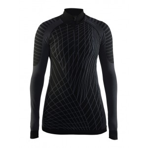 Dámské triko Craft Active Intensity se zipem černá s bílou