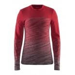 Dámské triko Craft Wool Comfort červená vzor