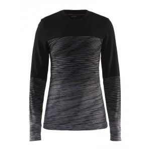 Dámské triko Craft Wool Comfort černá vzor