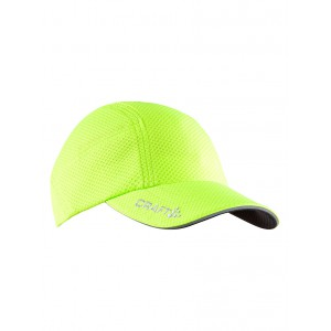 Kšiltovka Craft Running zelená reflexní