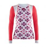 Dámské triko Craft Extreme Concept Piece růžová vzor