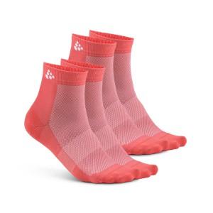 Ponožky Craft Cool Mid 2-pack růžová lososová