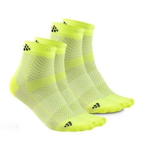 Ponožky Craft Cool Mid 2-pack žlutá reflexní