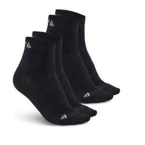 Ponožky Craft Cool Mid 2-pack černá