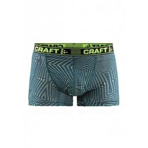 """Pánské boxerky Craft Greatness 3"""" zelená vzor"""