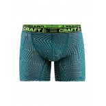 """Pánské boxerky Craft Greatness 6"""" zelená vzor"""