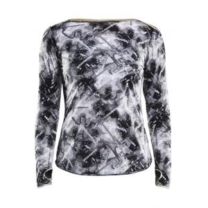 Dámské triko Craft Breakaway dl.rukáv černá s bílou