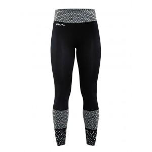 Dámské kalhoty Craft Core Blocked Tights černá s bílou