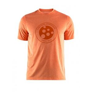 Pánské triko Craft Melange Graphic oranžová melír