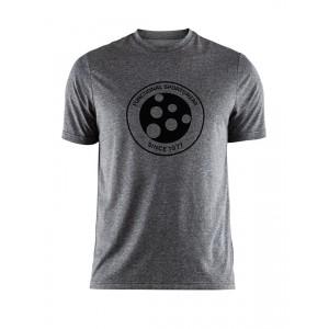 Pánské triko Craft Melange Graphic šedá melír