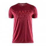 Pánské triko Craft Eaze Graphic červená vínová