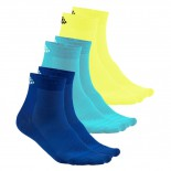 Ponožky Craft Cool Mid 3-páry vícebarevná