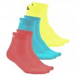 Ponožky Craft Cool Mid 3-pack vícebarevná