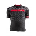 Pánský cyklodres Craft Route černá s červenou