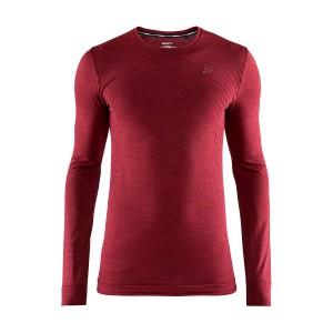 Pánské triko Craft Fuseknit Comfort červená vínová