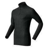 Pánské triko Odlo Warm se zipem černá