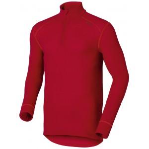 Pánské triko Odlo Warm se zipem červená