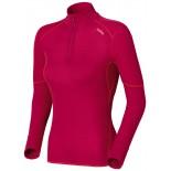 Dámské triko Odlo X-Warm se zipem růžová new