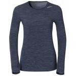 Dámské triko Odlo s merino vlnou Revolution TW Warm modrá melír