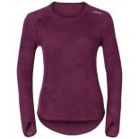 Dámské triko Odlo Vallée Blanche Warm fialová