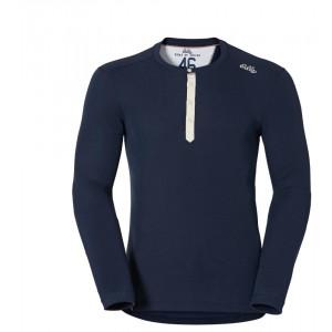 Pánské triko Odlo Vallée Blanche Warm tmavě modrá