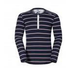 Pánské triko Odlo Vallée Blanche Warm tmavě modrá pruh