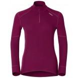 Dámské triko Odlo X-Warm se zipem fialová