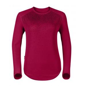 Dámské triko Odlo Vallée Blanche Warm růžová vzor