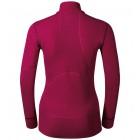 Dámské triko Odlo X-Warm se zipem tmavě růžová