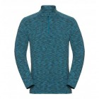 Pánské triko Odlo Sillian se zipem modrá melír