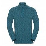 Odlo pánské triko Sillian se zipem modrá melír