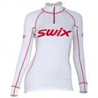 Swix dámské triko se stojáčkem Race X bílá s červenou