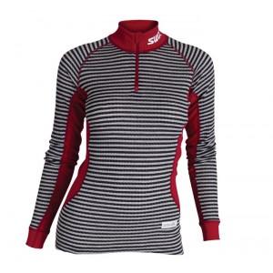 Swix dámské triko se stojáčkem RaceX černá pruh s červenou