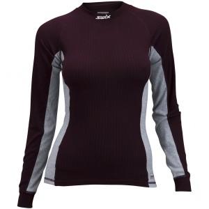 Swix dámské triko RaceX červená vínová se šedou