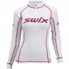 Swix dámské termoprádlo Race X se stojáčkem na zip bílá s červenou